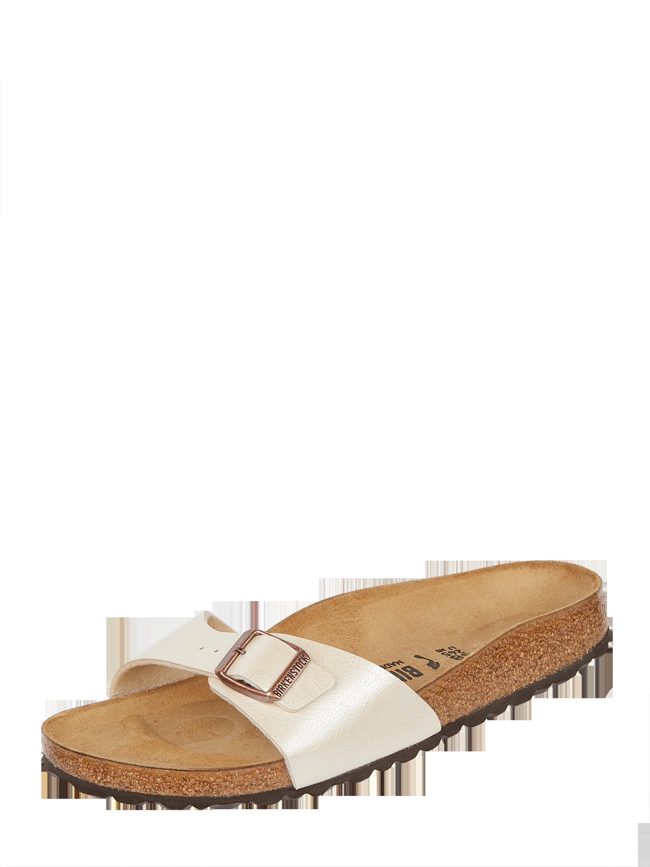 Birkenstock – Sandalen in schimmernder Optik – Beige