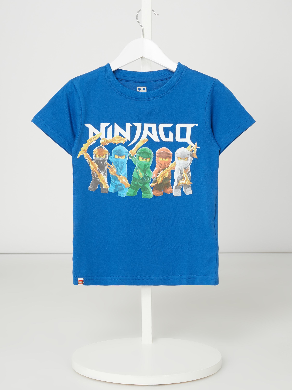 lego wear – t-shirt mit ninjago®-print – royalblau