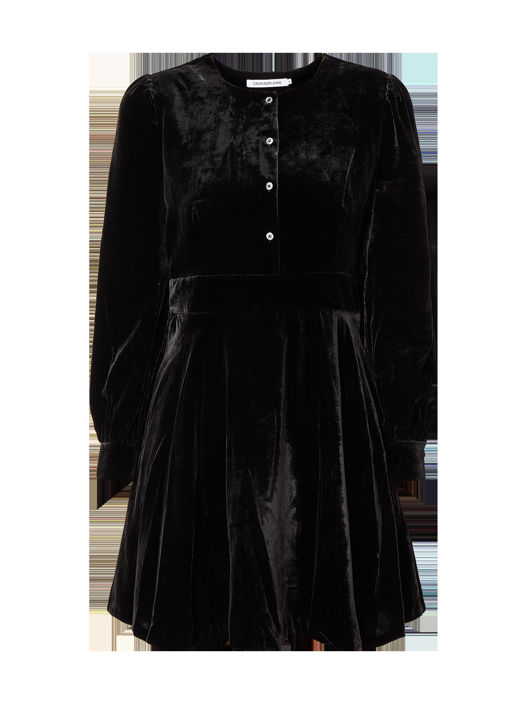 Calvin Klein Jeans – Kleid aus Samt – Schwarz