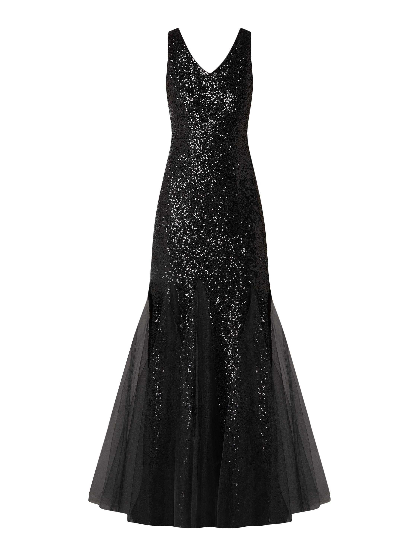 paradi – abendkleid im meerjungfrau-stil – schwarz