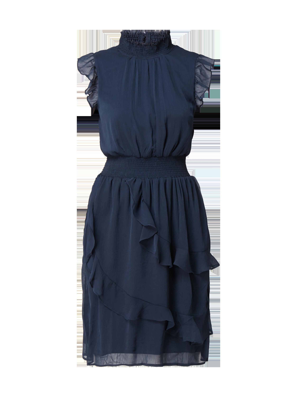 e7ed8ee9f856 VILA Kleid aus Chiffon mit Volantbesatz in Blau   Türkis online kaufen  (9833366) ▷ P C Online Shop