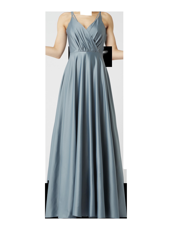 TROYDEN COLLECTION – Abendkleid aus Satin – Mint