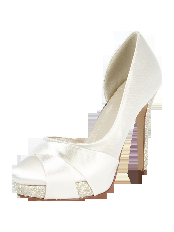b9667faba9998 RAINBOW Brautschuhe mit Stilettoabsatz und Plateausohle in Weiß online  kaufen (9645067) ▷ P&C Online Shop