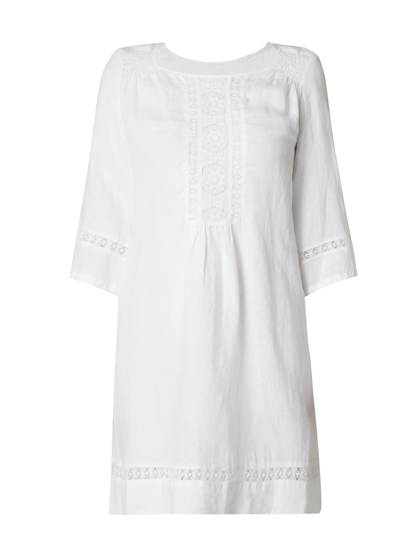 155222bc53c 120-LINO Kleid aus Leinen mit Spitze in Weiß online kaufen (9767847) ▷ P C  Online Shop Österreich