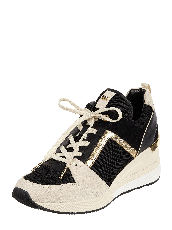 """5ec3524d34f9e MICHAEL-MICHAEL-KORS Sneakersy """"Georgie"""" ze skóry welurowej w kolorze Biały  zakupy online (9902702) w P&C ▷ wysyłka i zwrot 0zł"""