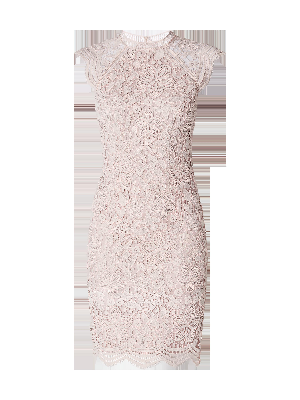 e0cbdd43e0 CHI-CHI-LONDON Sukienka koktajlowa z koronki szydełkowej w kolorze  Ciemnoróżowy zakupy online (9967186) w P C ▷ wysyłka i zwrot 0zł