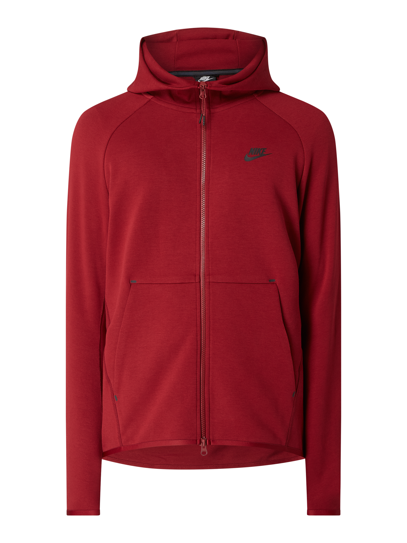Nike – Bluza rozpinana z kapturem – Czerwony melanż