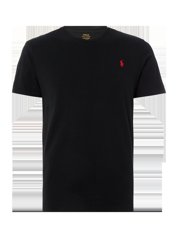 Polo Ralph Lauren – T-Shirt mit Logo-Stickerei – Schwarz