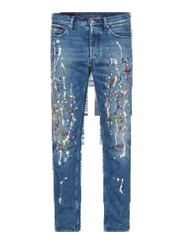 a50a1b6b36078 CALVIN-KLEIN-JEANS Dżinsy o kroju Slim Fit z efektem znoszenia w kolorze  Niebieski / turkusowy zakupy online (9759302) w P&C - 20% zniżki - wysyłka  i zwrot ...
