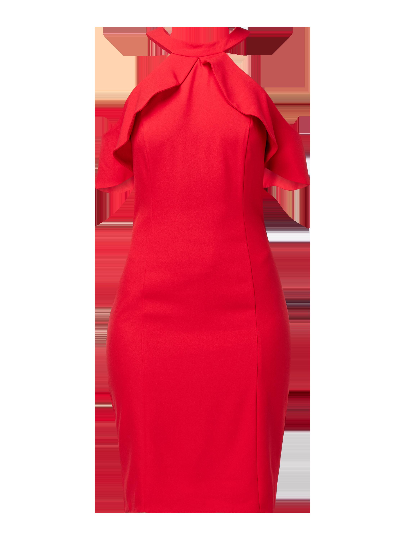 ADIDAS Originals – Sukienka z wyciętymi ramionami z paskami z logo – Czerwony