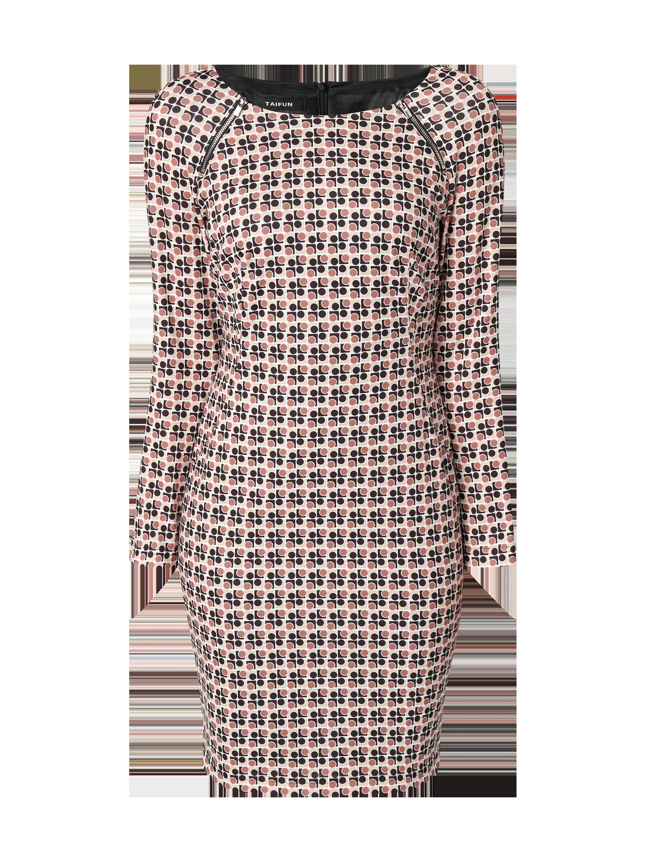 41e640e891e63d TAIFUN Kleid mit grafischem Muster in Rosé online kaufen (9756072) ▷ P C Online  Shop Österreich