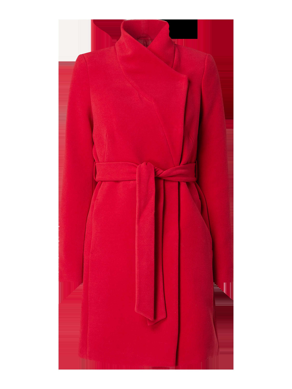 Montego – Mantel mit Reverskragen – Rot