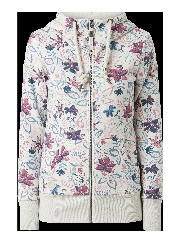 Ragwear – Bluza rozpinana z kapturem – Jasnoszary melanżowy