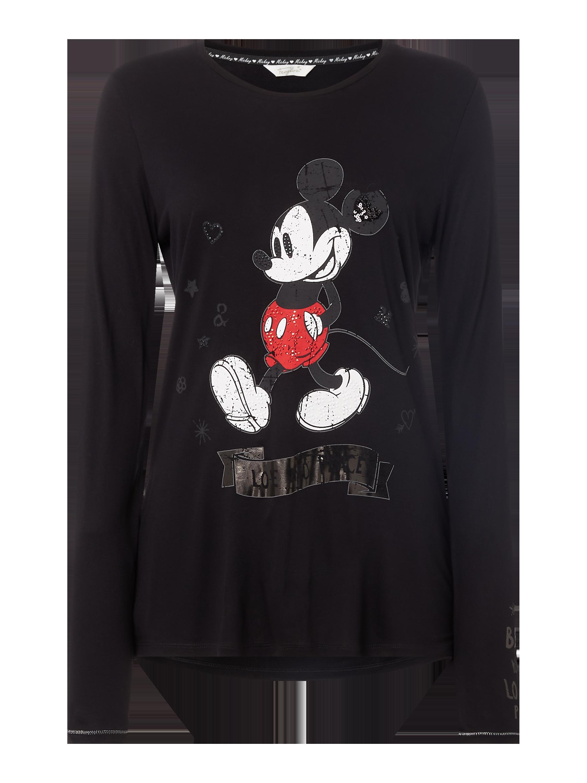 FROGBOX Sweatshirt mit Disney© Print in Grau Schwarz