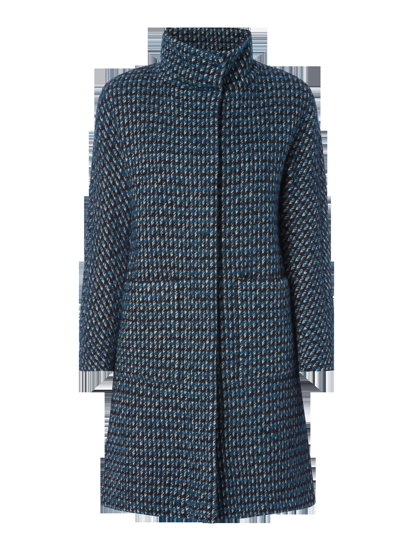 WEEKEND-MAX-MARA Wollmantel mit Pepita in Blau   Türkis online kaufen  (9706005) ▷ P C Online Shop Österreich a282013a14