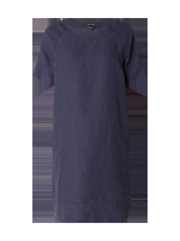 Marc O'Polo – Kleid aus reinem Leinen – Marineblau