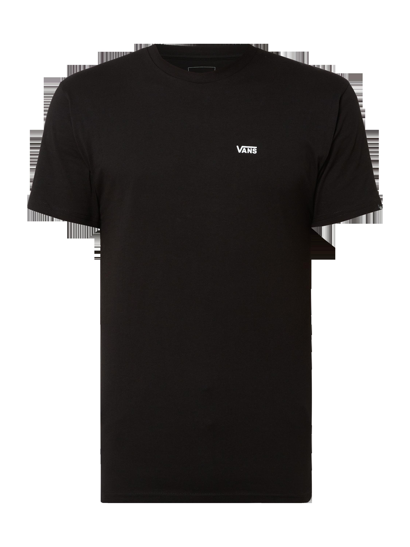 Vans – Classic Fit T Shirt mit Logo Print – Schwarz