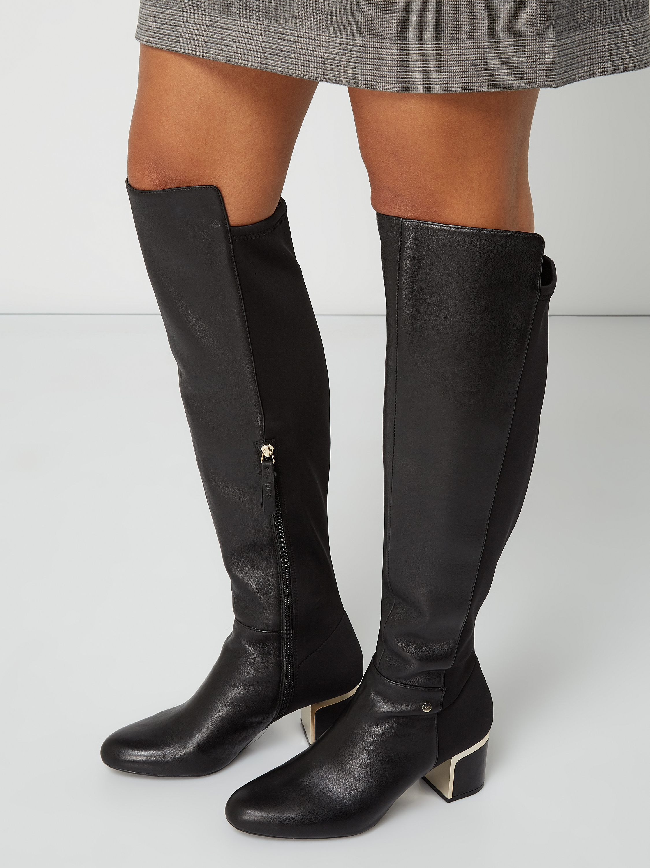DKNY – Stiefel aus Leder und Textil – Schwarz