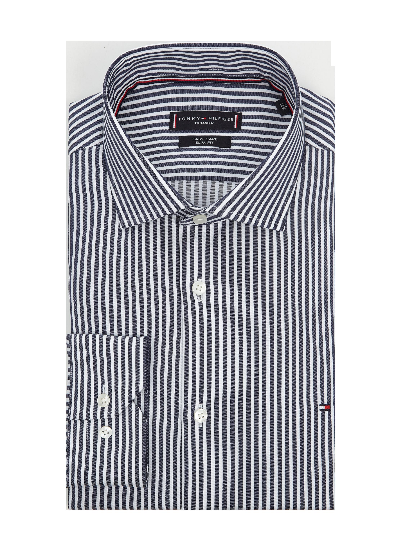 TOMMY TAILORED – Slim Fit Business Hemd aus Baumwolle – Marineblau
