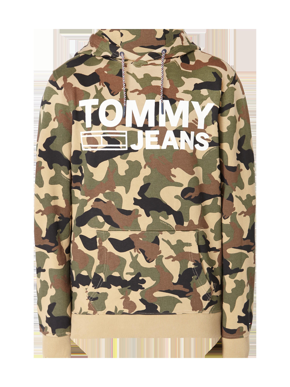 TOMMY-JEANS Hoodie mit Camouflage-Muster in Grün online kaufen ...