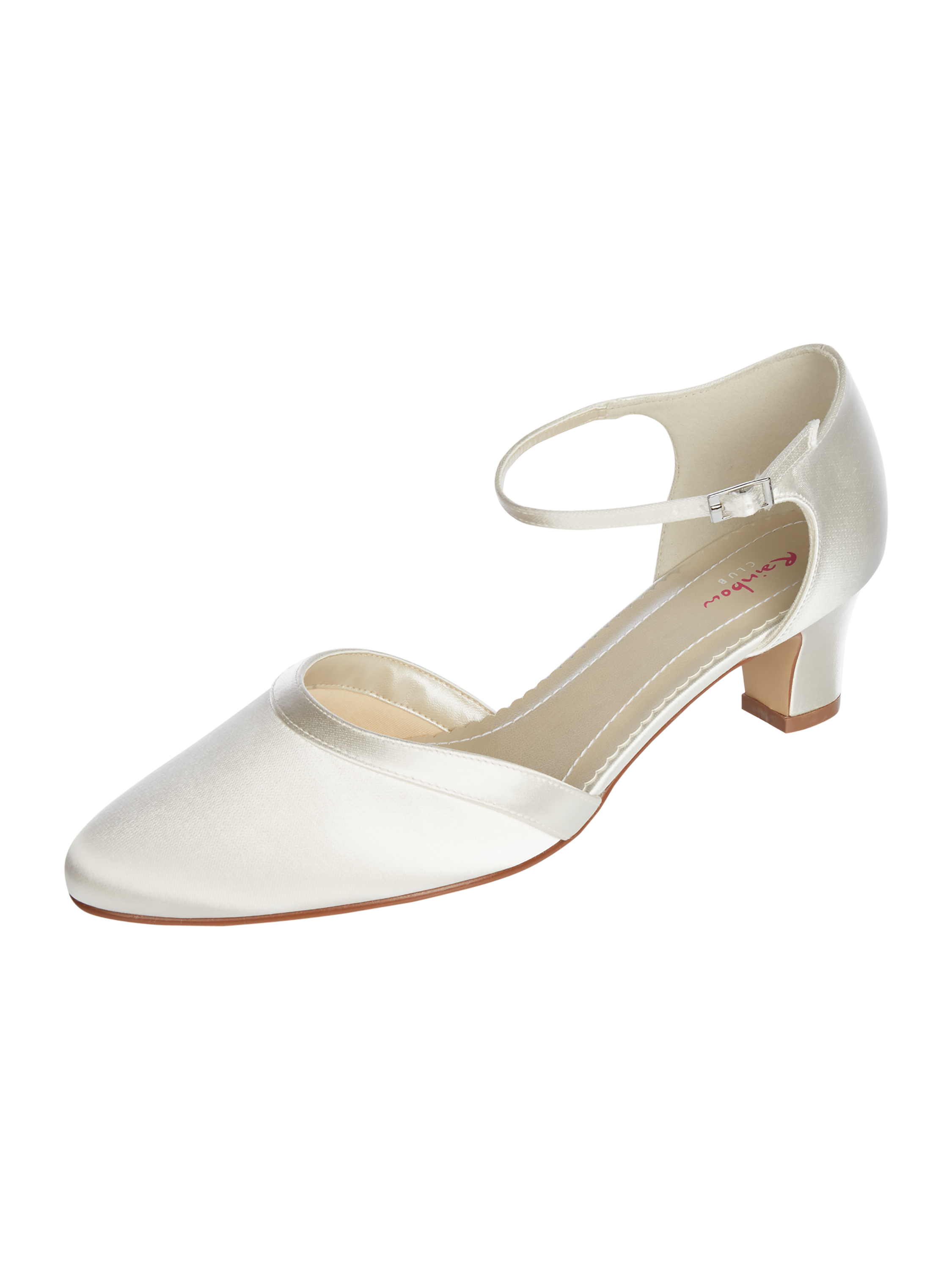 Rainbow Club – Pumps aus Satin – Offwhite