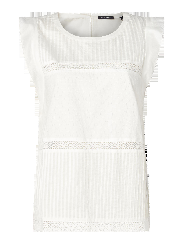 MARC-O-POLO Blusentop mit Biesen in Weiß online kaufen (9645675) ▷ P C  Online Shop 6bf6b9073d