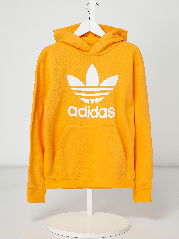 ADIDAS Originals – Bluza z kapturem z nadrukiem z logo – Apricot