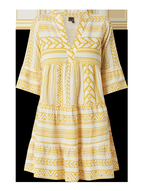 Vero Moda – Kleid aus Bio Baumwolle Modell 'Dicthe' – Gelb
