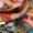 Daughters of Italy Schal mit künstlerischem Allover-Muster Schokobraun - 1
