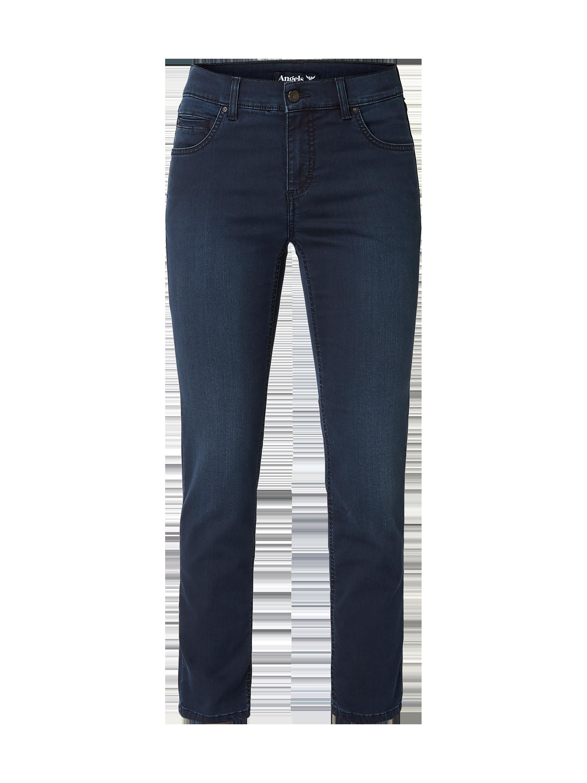 Angels – Straight Fit Jeans mit Stretch Anteil – Dunkelblau