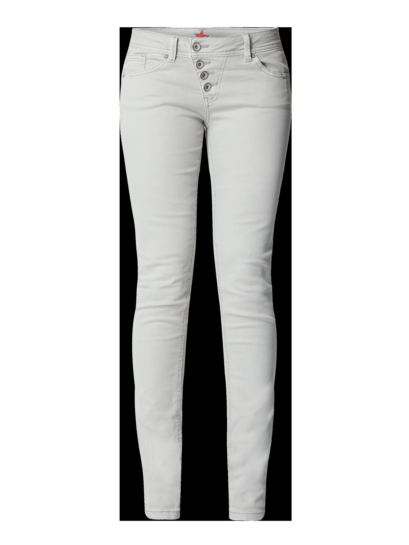 Buena Vista – Slim Fit Jeans mit Stretch Anteil Modell 'Malibu' – Hellgrau