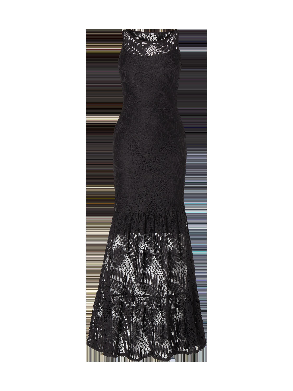 Guess – Abendkleid im Meerjungfrau-Stil – Schwarz