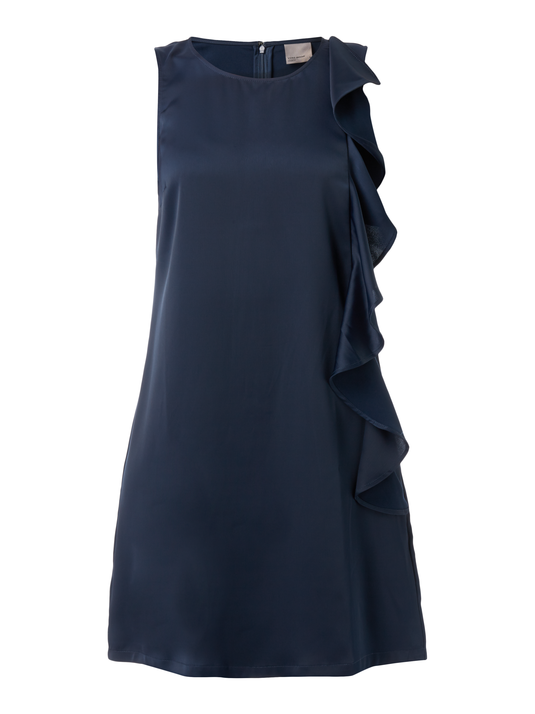 2f8d5068f8fd Vero Moda Kleid aus Satin mit Volantbesatz Blau   Türkis - 1 ...