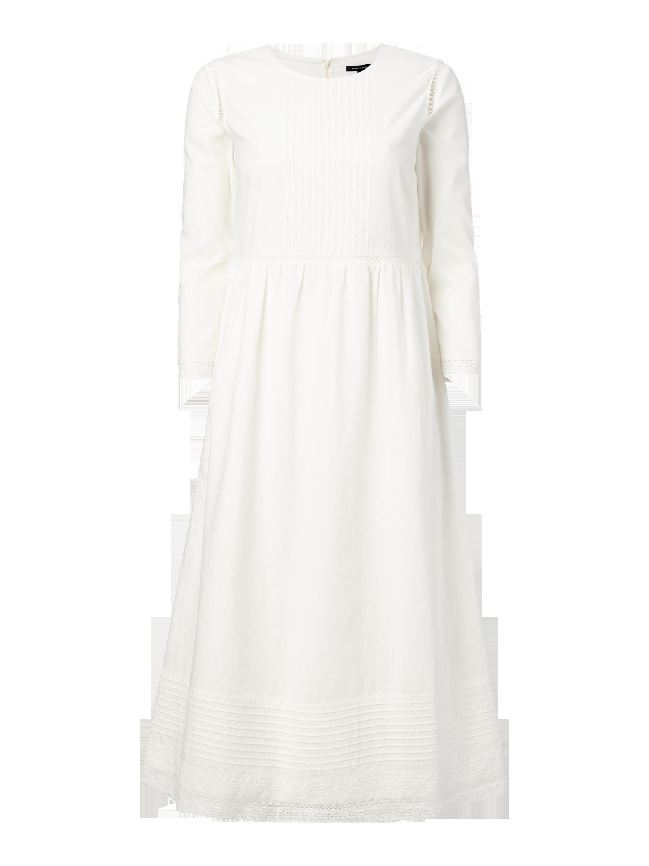 MARC-O-POLO Kleid mit Biesen und Häkelspitze in Weiß online kaufen  (9645696) ▷ P C Online Shop 2a6b25821e