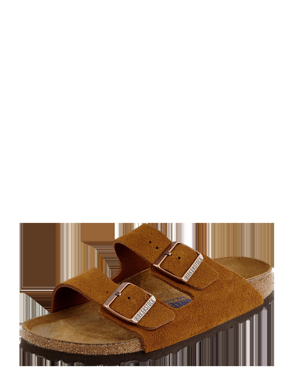 Birkenstock – Sandalen aus Veloursleder Modell 'Arizona' – Cognac