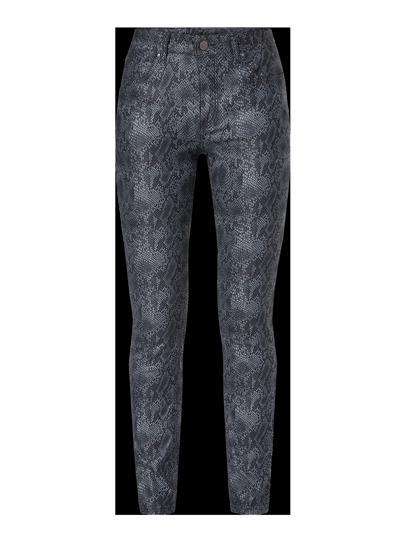 MAC – Skinny Fit Jeans in Snake Optik – Schwarz