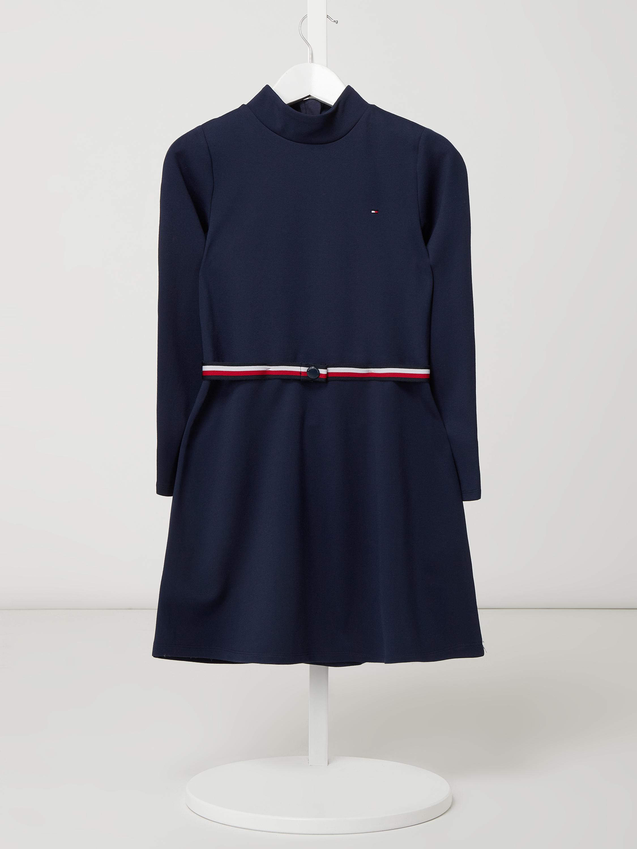 t. hilfiger teens – kleid mit taillengürtel – marineblau