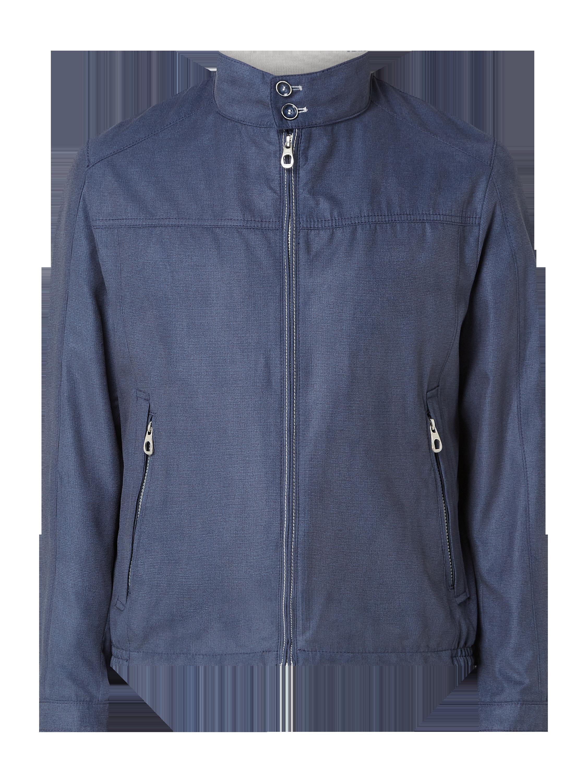 bugatti – Jacke mit Reißverschlusstaschen – Dunkelblau
