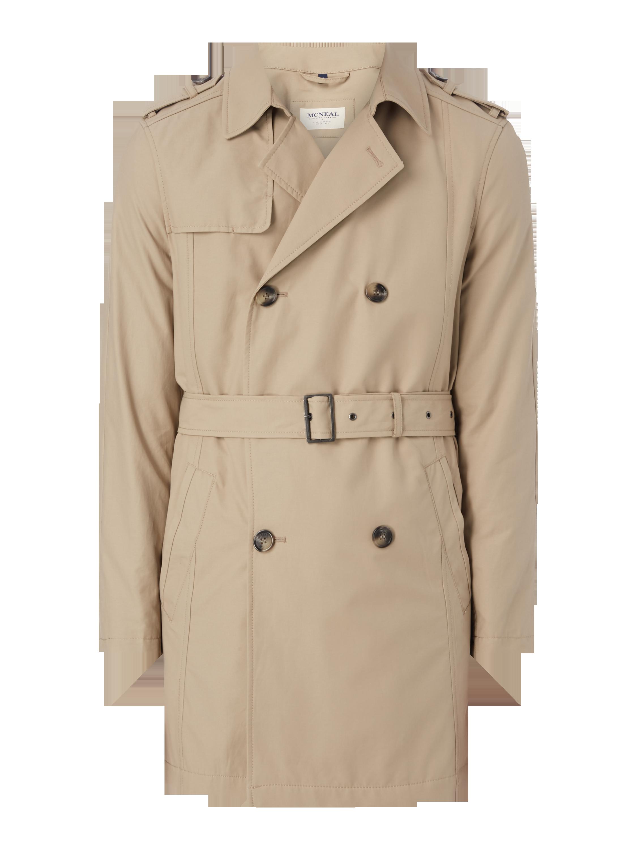 a9e4651cce40 MCNEAL Trenchcoat mit Schulterkoller in Grau   Schwarz online kaufen  (9576678) ▷ P C Online Shop