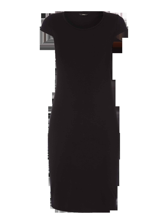 ONLY Shirtkleid mit Rundhalsausschnitt in Grau / Schwarz online ...
