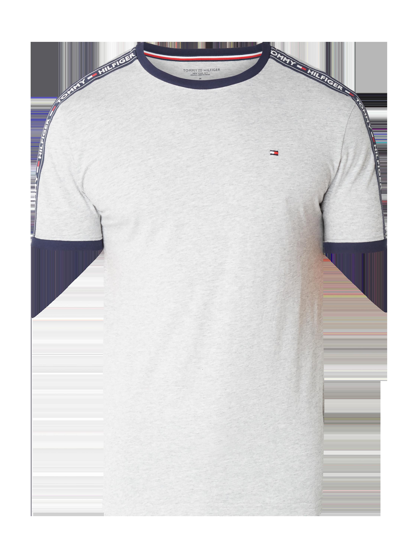 5b3d400021 TOMMY-HILFIGER T-Shirt mit Logo-Borten in Grau / Schwarz online kaufen  (9758885) ▷ P&C Online Shop