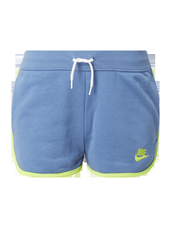 Nike – Szorty z dzianiny dresowej o kroju standard fit z wyhaftowanym logo – Szaroniebieski
