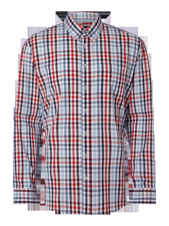 CHRISTIAN-BERG-MEN Regular Fit Hemd mit Brusttasche - kariert in Rot online  kaufen (9562866) ▷ P C Online Shop Österreich 930b50c261