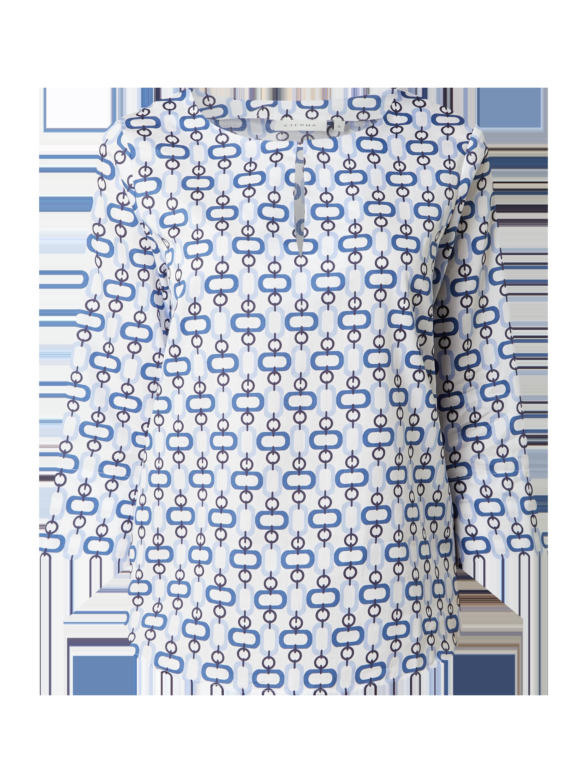 eterna – blusenshirt mit 7/8-arm – weiß