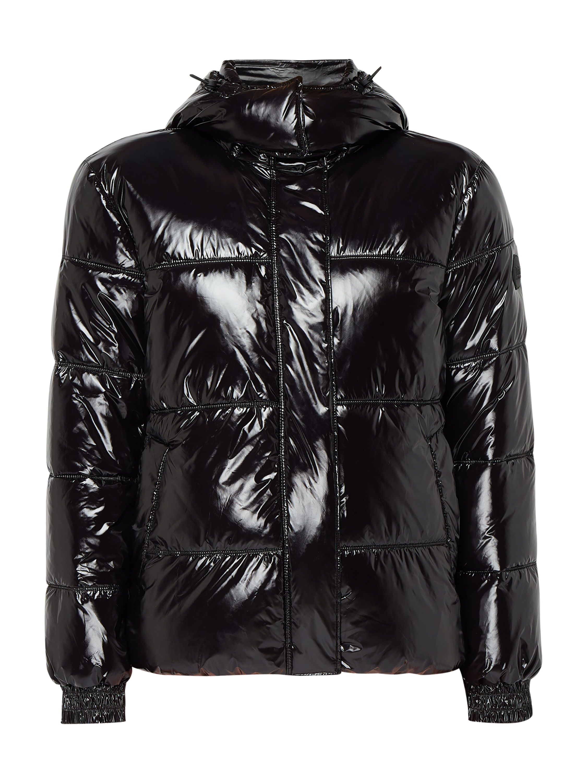 eea06b24cc862 JAKES-COLLECTION Pikowana kurtka lakierowana w kolorze Szary / czarny  zakupy online (9900738) w P&C ▷ wysyłka i zwrot 0zł