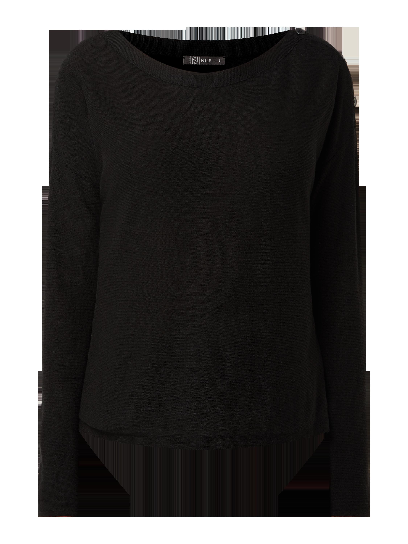 nile – pullover mit überschnittenen schultern – schwarz