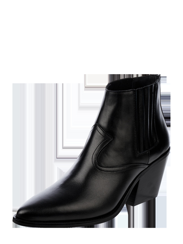 Marc Cain Bags & Shoes Skórzane botki damskie, czarny