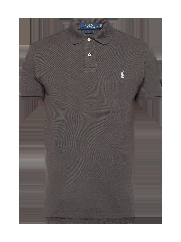 730c6b7376152f POLO-RALPH-LAUREN Koszulka polo o kroju Slim Fit z haftowanym logo w  kolorze Szary / czarny zakupy online (9774066) w P&C ▷ wysyłka i zwrot 0zł