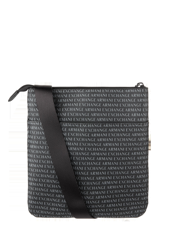0d764a02d3ec ARMANI-EXCHANGE Torba na ramię z wzorem z logo w kolorze Szary   czarny  zakupy online (9823793) ▷ P C Online Shop