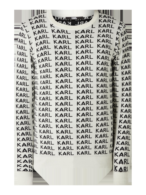 KARL LAGERFELD Pullover mit Logo Stickereien in Weiß online